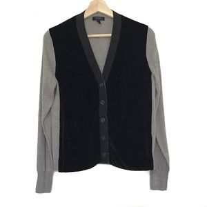 J.Crew Cardigan Black Front Grey Body Size Small